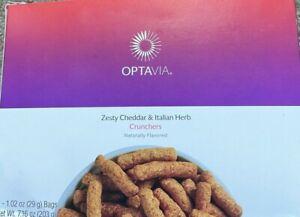 OPTAVIA Zesty Cheddar and Italian Herb Crunchers - 7 Meals