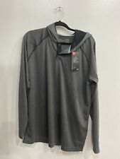 Nwt Mens Under Armour Light Weight Heat Gear Button Hoodie Large
