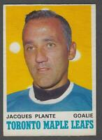1970-71 O-Pee-Chee Toronto Maple Leafs Hockey Card #222 Jacques Plante