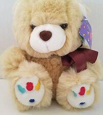 "Teddy Bear Plush Stuffed Animal Premier Toy Tan Jelly Bean Colored Toes 9"""