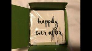 "KATE SPADE BRIDAL PARTY KEEPSAKE BOX: NIB  ""HAPPILY EVER AFTER"" BRIDE/WEDDING"