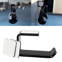 Acrylic Headphone Stand Hanger Hook Tape Under Desk Dual Headset Mount Holder H7