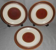 Set (3) Denby RUST RED POTTERS WHEEL Dinner Plates ENGLAND