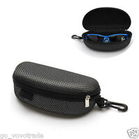 Portable Zipper Eye Glasses Sunglasses Clam Shell Hard Case Protector Box NEW