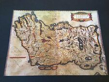 Old Map Of Ireland - Hundreds Of Place Names In Latin Rare Irish Poster Print