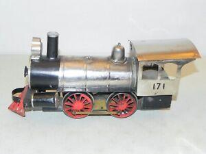 "Vintage Carlisle & Finch Rare 2"" Gauge #4 Steam Locomotive RUNS"