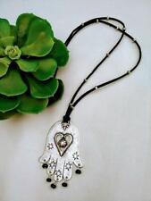 Hamsa Hand Necklace-Big Hamsa Pendant-Ethnic Jewelry
