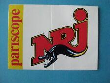 Autocollant ancien : NRJ pariscope