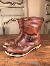 RARE CHIPPEWA SCOUT MOTORCYCLE ENGINEER INDIAN MENS BOOTS 1940's SIZE 11 WIDE