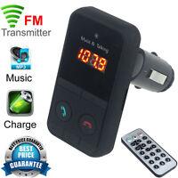 WIRELESS BLUETOOTH CAR KIT MP3 PLAYER FM TRANSMITTER MODULATOR SD USB LCD REMOTE
