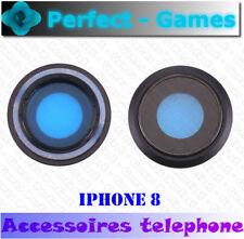 Apple iPhone 8 lentille vitre cache camera arrière noir black rear lens cover