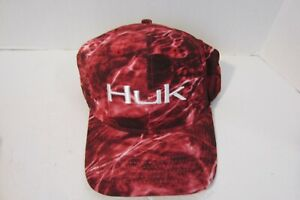 HUK Elements Stretch Cap Medium/Large (Red  L-XL)  Free Shipping