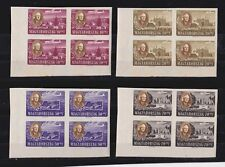 hungary 1947 Sc B198A/D,CB1/1C impef,MNH block of four,set       l1021