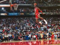 Michael Jordan The Dunk W/ Autograph Reprint 8x10 Photo Reprint Auto Iconic
