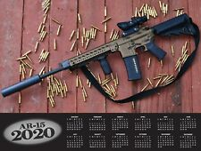 2020 AR-15 RIFLE DELUXE WALL CALENDAR black rifle msr ar15 2nd Amendment