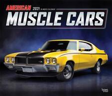 AMERICAN MUSCLE CARS - 2021 WALL CALENDAR - BRAND NEW - 18243