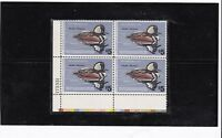 US SCOTT #RW45 1978  $5.00 MERGANSER DUCK HUNTING PERMIT PLATE BLOCK OF 4 MNH