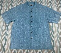 Tommy Bahama Men's Hawaiian Short Sleeve Button Up Shirt 100% Silk Size M Medium