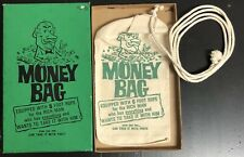 """Vintage Money Bag With 6 Foot Rope """"You Can Take It With You� Gag Gift Green Box"""