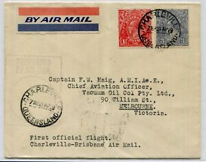 22 Apr.1929 (AAMC.133a) Charleville - Brisbane cover, carried by QANTAS