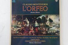 Monteverdi L'Orfeo Concentus Musicus Wien Nikolaus Harnoncourt (LP24)