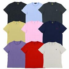 Polo Ralph Lauren Camiseta para hombres personalizados Calce Ajustado Mangas Cortas Escote Redondo Nuevo Nuevo Con Etiquetas
