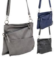 Damen Handtasche 2in1 Schultertasche mittelgroße Umhängetasche crossover Tasche