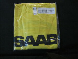 SAAB GENUINE 9-3 100% COTTON TEE SHIRT WITH  SAAB  LOGO F 9-3 CAR ON BACK