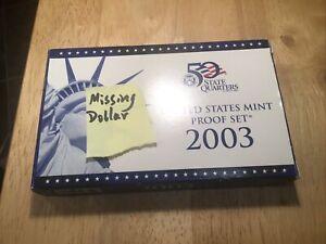 2003 US Proof Set - (Sacajawea dollar missing)