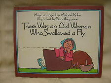 1981 Book There Was an Old Woman Who Swallowed a Fly With Piano Music Hardback