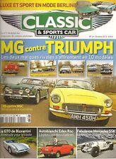 CLASSIC & SPORTS CAR 14 S3 MG TRIUMPH BIZZARINI 5300 GT STRADA EDEN ROC DINO 246