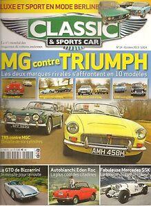 CLASSIC & SPORTS CAR 14 S2 MG TRIUMPH BIZZARINI 5300 GT STRADA EDEN ROC DINO 246
