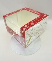 """Christmas Yule Log Boxes & Boards - Cake Boxes 8"""" & Boards & Mince Pie Boxes"""