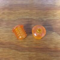 BICYCLE HANDLE BAR PLUGS COPPER TONE / ORANGE FIT SEARS SCREAMER AND OTHERS