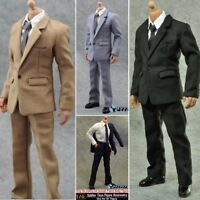 1/6 Men Suit Clothes Pants Shirt Set 4 Colors For 12'' Figure Body Hot Toys