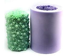 3D Big Hubble-bubble Cylinder Candle Mold Soap Mould Flexible Silicone LZ0084