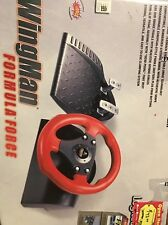 Logitech Wingman PC Formula Force GP Racing Steering Wheel Gas Brake Pedals USB