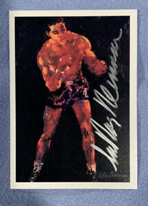 LeRoy Neiman Autographed Signed 1991 Kayo Boxing Auto Card Signed At His Studio