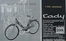 PUBLICITE CADY CYCLOMOTEUR MOTOBECANE MOTOCYCLETTE DE 1966 FRENCH AD PUB VINTAGE