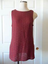 Giorgio Armani Collezioni White Label Brick Red Linen Blend Fancy Knit Shell  12