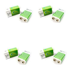 8 pc 9V 300mAh GTL Ni-MH Rechargeable Battery Block PP3 Green