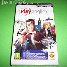 PLAY ENGLISH NUEVO PRECINTADO PAL ESPAÑA PSP EDICIÓN COLECCIONISTA
