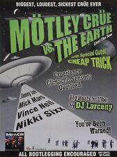 """MOTLEY CRUE """"VS. THE EARTH"""" U.S. PROMO POSTER FOR TOUR & """"GENERATION SWINE"""""""