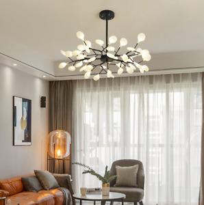 Modern LED Chandelier Creative Fireflies Tree Branch Pendant Lighting Lamps