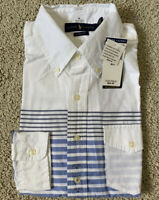 NWT POLO RALPH LAUREN Mens Casual Button Down Shirt Long Sleeve Stripe