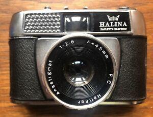 Vintage Halina Paulette Electric Camera with case