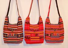 große Peru Tasche Schultertasche gewebt, Inka Muster,Folklore,Manta Stoff,Hippie