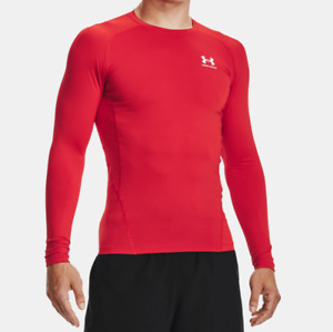 Under Armour Men's UA HeatGear Compression Long Sleeve Shirt Red.1361524