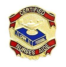 CNA Certified Nurses Aide Pin Textbook Lamp Medical Graduation Emblem New 949