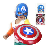The Avengers Captain America Mask Shield Cloak Children Cosplay Props Halloween